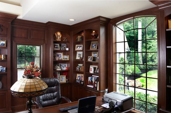 Elegant Custom Traditional Home Library Office Home Library Office Design Ideas