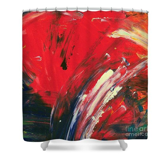 Most Popular Shower Curtain Featuring The Painting When Its Red By Noa  Yerushalmi