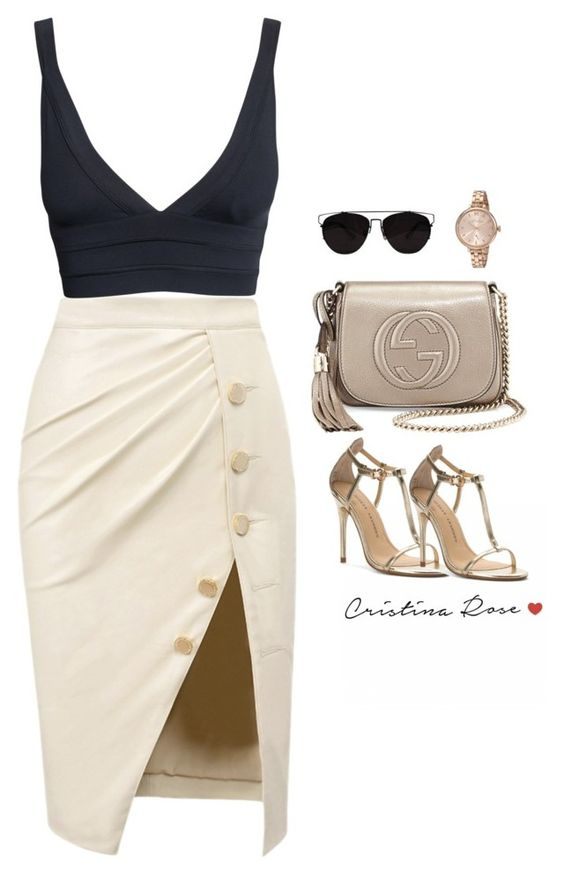 """""""Untitled #270"""" by cristinarose567 ❤ liked on Polyvore featuring Gucci, Retrò, Chinese Laundry and Marc by Marc Jacobs"""