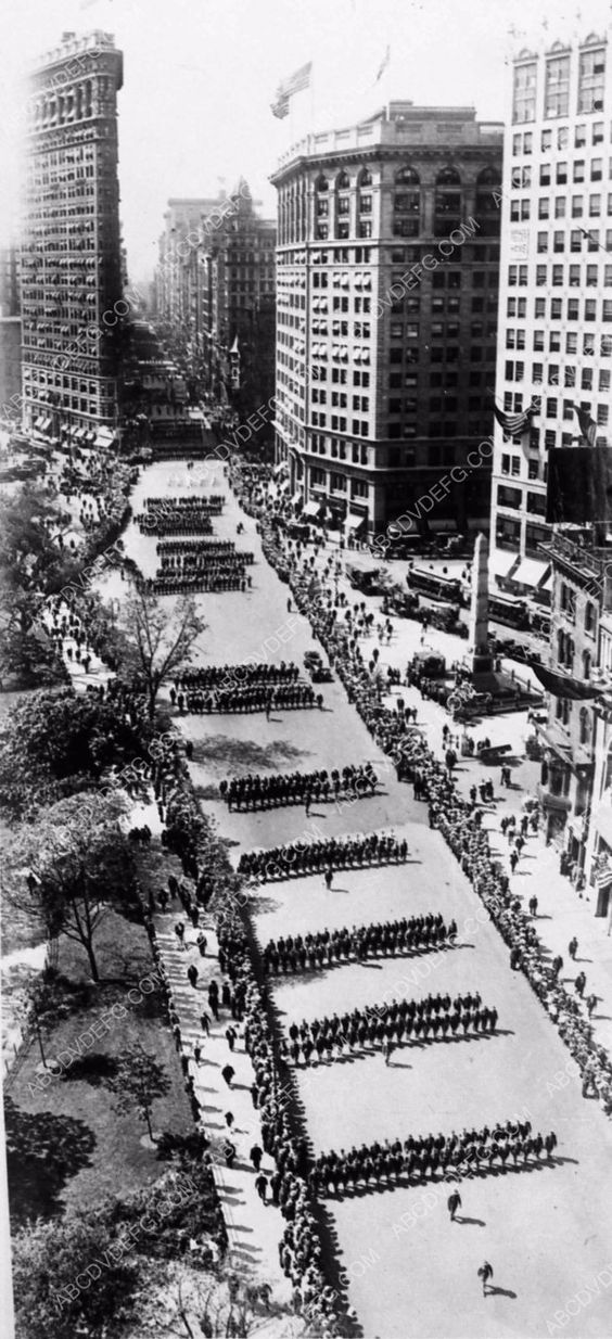 The 1918 NYC George Washington Day Parade cool New York Photo 1309-08