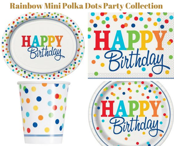 Rainbow Mini Polka Dot Party Collection