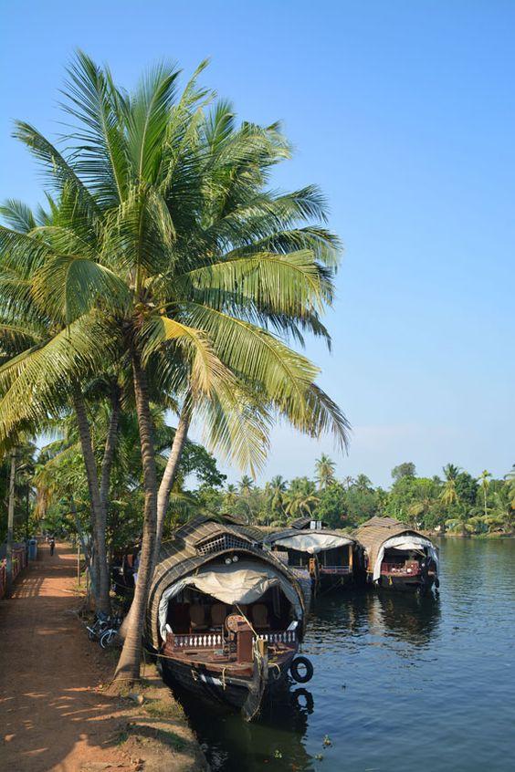 Les «backwaters» : vivre le Kerala au fil de l'eau.