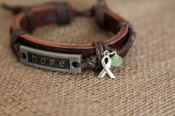 Hope Charm Bracelet Lyme Disease Awareness by DlightedJewelry, $23.00  #fibro #hope #awareness