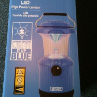 Light It Up Blue with this lantern  From Home Depot for Autism Awareness Day April 2, 2012