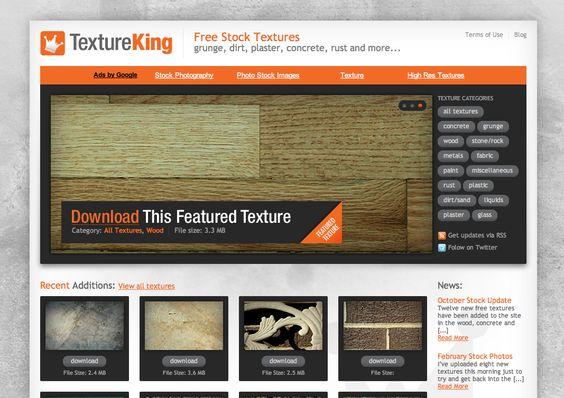 Sites de ref. para download de textura