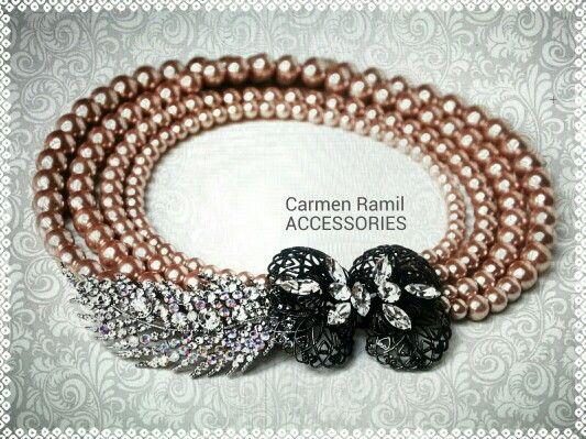 Collar de Carmen Ramil con cierre vintage