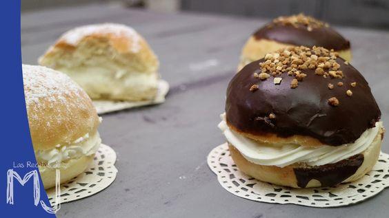 Cristinas o bambas de nata y chocolate / Bun cream and chocolate