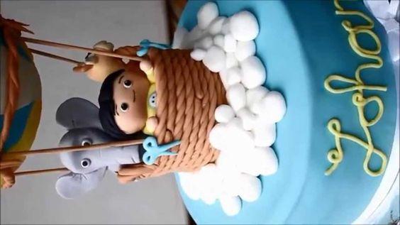 Hot air ballon cake / cute 1st Birthdaycake
