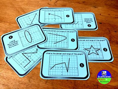 FREE domain and range practice cards.