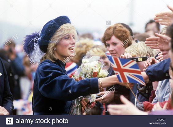 Princess Diana North East of England Visit
