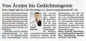 Hessische/Niedersächsische Allgemeine Zeitung August 2014