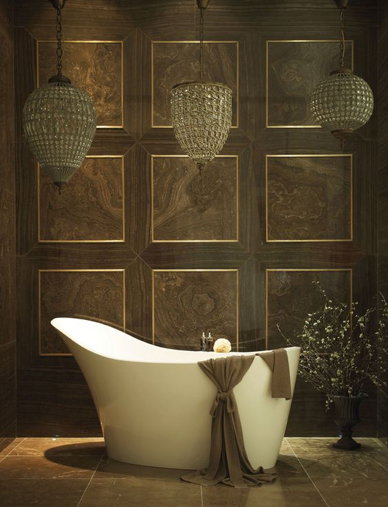Armani Cross-Cut and Vein-Cut Marble    http://www.lapicida.com    Armani cross-cut and vein-cut marble combined for this Lapicida bespoke bathroom.