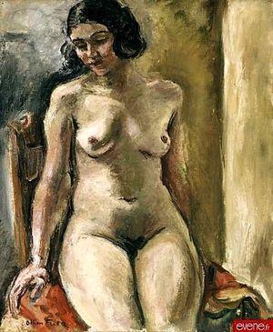 Nu assis, vers 1925