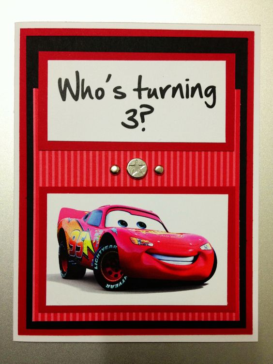 Stampin Up Cars Lightning McQueen red birthday card – Pinterest Stampin Up Birthday Cards