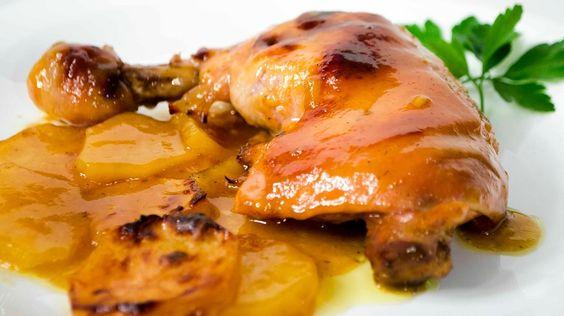 Receta de muslos de pollo a la cerveza y mostaza