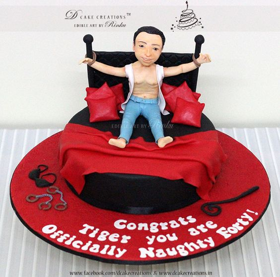 Naughty Bday Cake Images : Naughty Forty Birthday Cake 3D Birthday Cakes for Adults ...