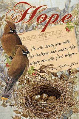 Cedar Waxwings  print...  Hope