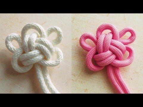 かわいい梅の花の形が作れるひもの結び方 梅結び 飾り結び パラコード how to make a ume blossom knot youtube 梅結び 飾り結び 結び