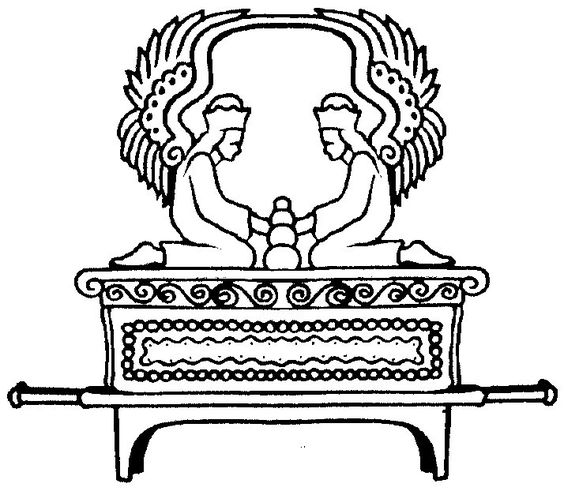 Ark Of The Covenant Coloring Page  camp ideas  Pinterest