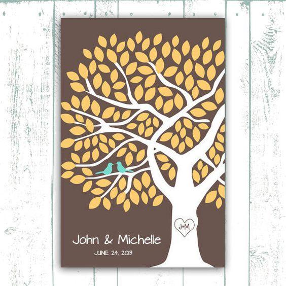 Guest Book Poster  Wedding Guest Book Tree by MooseberryPrintShop, $54.00