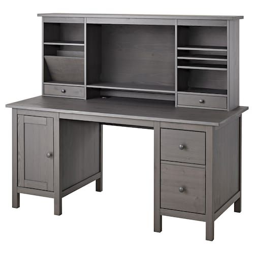 Hemnes Desk Dark Gray Gray Stained 61x25 5 8 Ikea Hemnes