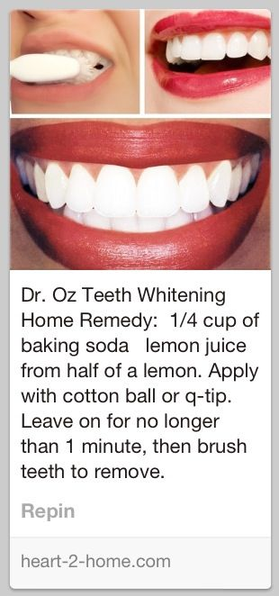 Dr. Oz teeth whitening tip. It didn't leave my teeth glaringly white, but I didn't expect that. It did whiten them pretty noticeably after one go, though. I will be doing this again.
