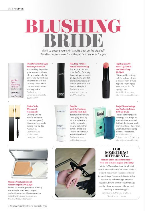 #BlushingBride in #SussexStyle #SussexStyleMag  #BridalMakeup #Brides