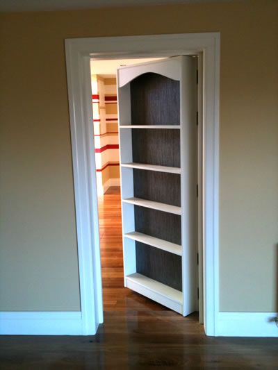 Bookshelf door how to build and bookshelves on pinterest for Making a bookcase