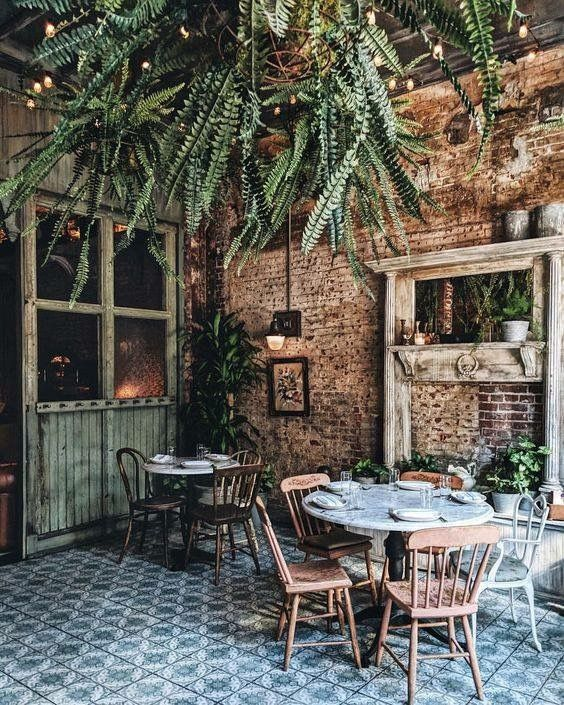 Green Space With A Soul Decoracao De Restaurante Restaurante Rustico Decoracao Cafeteria