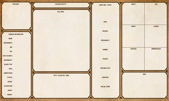 Character Sheet Template by yenke resource tool how to tutorial