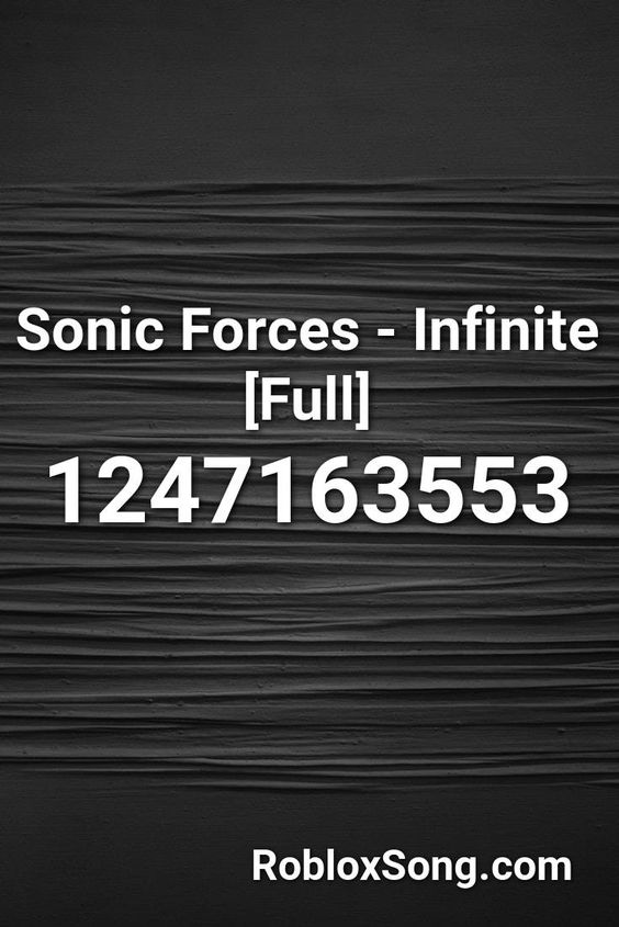 Roblox Sonic Song Id Sonic Forces Infinite Full Roblox Id Roblox Music Codes In 2020 Roblox Sonic Songs
