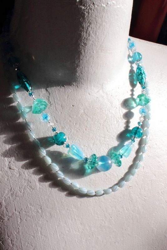Collier de collection Aqua colore