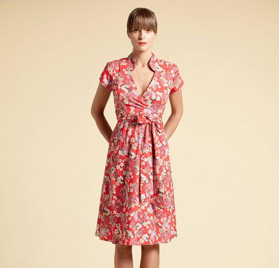 Floral Warp Dress Bridesmaid Dress by ASSAFPELLEG on Etsy