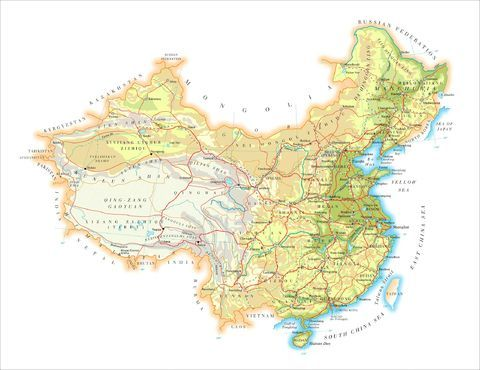 Mapa Fisico De China.Mapa Fisico De China Mapas Mapa Fisico Y China
