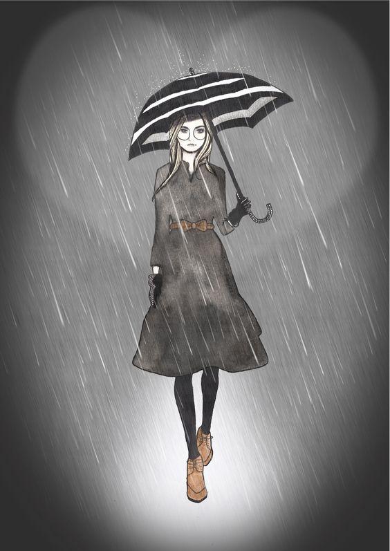 Burberry fashion illustration by BeckiBoos #fashion art #illustration
