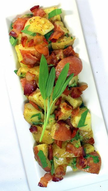 Bacon potato salads, Potato salad and Vinaigrette on Pinterest