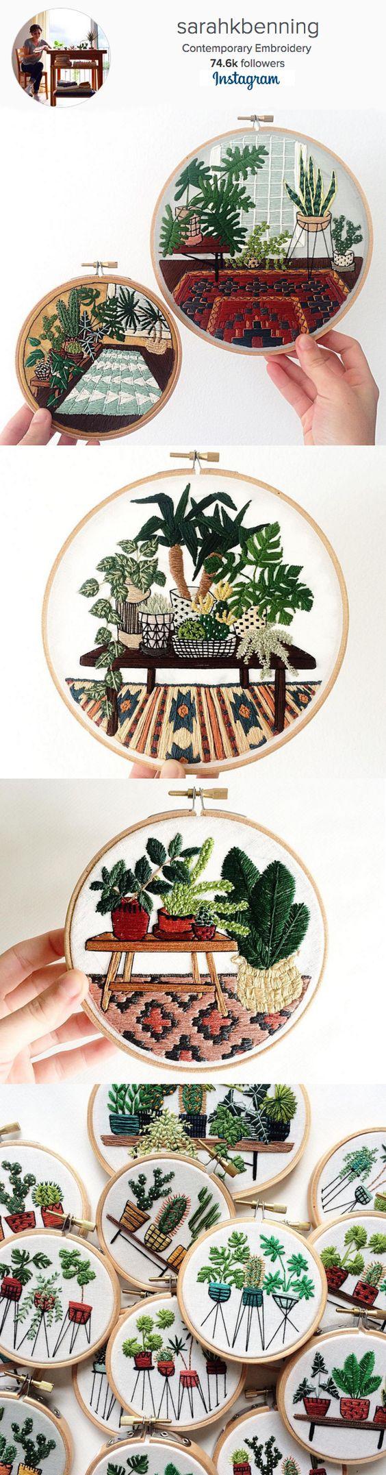 Sarah K Benning, Contemporary Embroidery | Instagram: