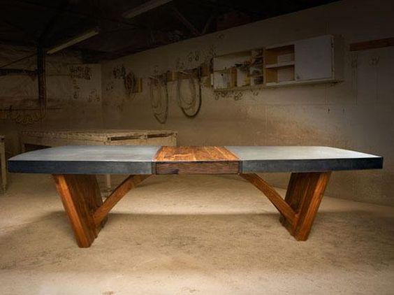 Trestle Table | Concrete Revolution Studio | фурнитура | Pinterest | Trestle  Tables, Concrete And Concrete Table