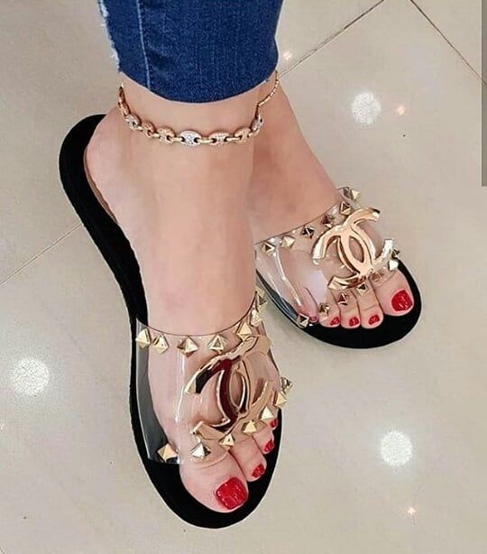 31 Rhinestones Flat Mule Shoes For College shoes womenshoes footwear shoestrends