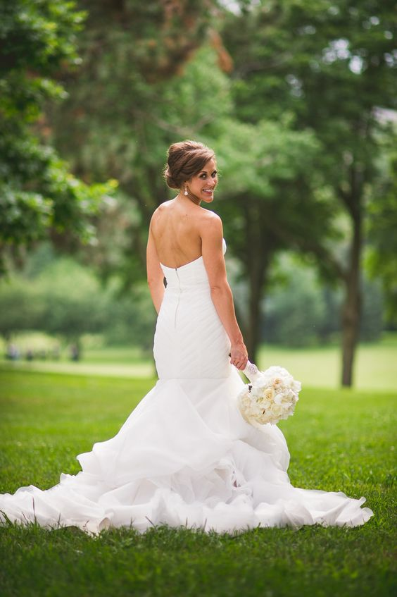 Mermaid Wedding Dresses In Chicago : Strapless ruffled mermaid dress frombella bianca bridal