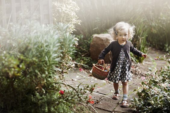the girl in the garden: