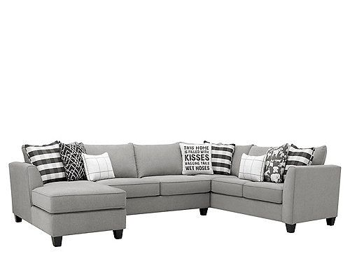 Daine 3 Pc Sectional Sofa Sectional Sofa Grey Sectional 3