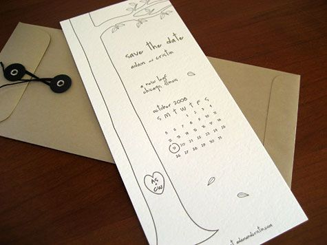 Free Wedding Templates: The Giving Tree Save-the-Dates