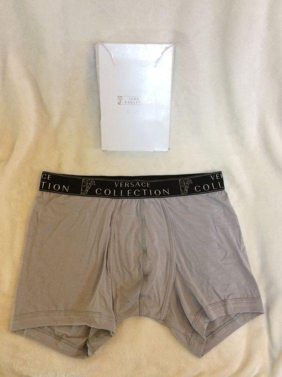 VERSACE COLLECTION man's SLIP-BOXER underwear size XL BNWB RRP£31 Grey | eBay