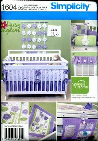 Simplicity 1604 Daisy Kingdom Nursery Accessories