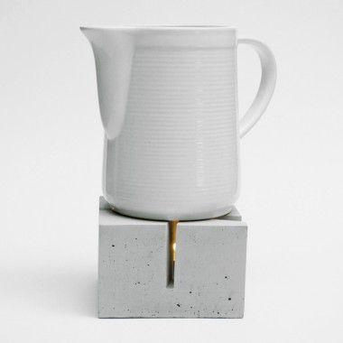keep your tea warm...  via betonWare stövchen t_licht