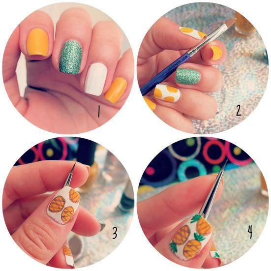 Summer pineapples #nails #nailart