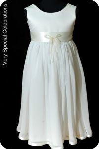 Ivory chiffon flower girl dress - Flower Girl Dresses - Pinterest ...