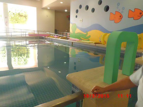 el área de hidroterapia en el CRIT que ayuda a la movilidad de los niños con discapacidad