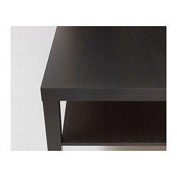 IKEA - LACK, Couchtisch, schwarzbraun, , Mit praktischer Ablage für Zeitungen usw., dadurch bleibt mehr Platz auf dem Tisch.